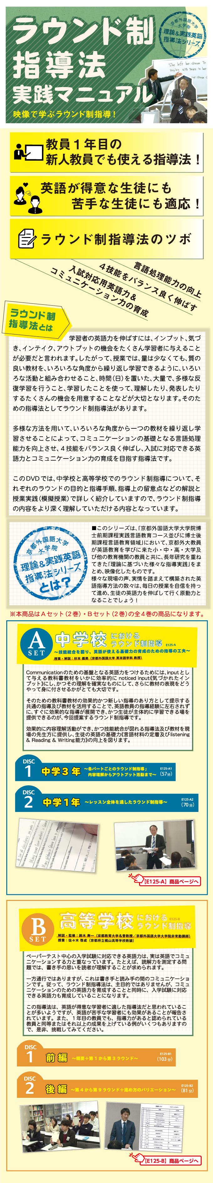 京都外国語大学 大学院・ 理論&実践英語指導法シリーズ 「ラウンド制指導法」 実践マニュアル