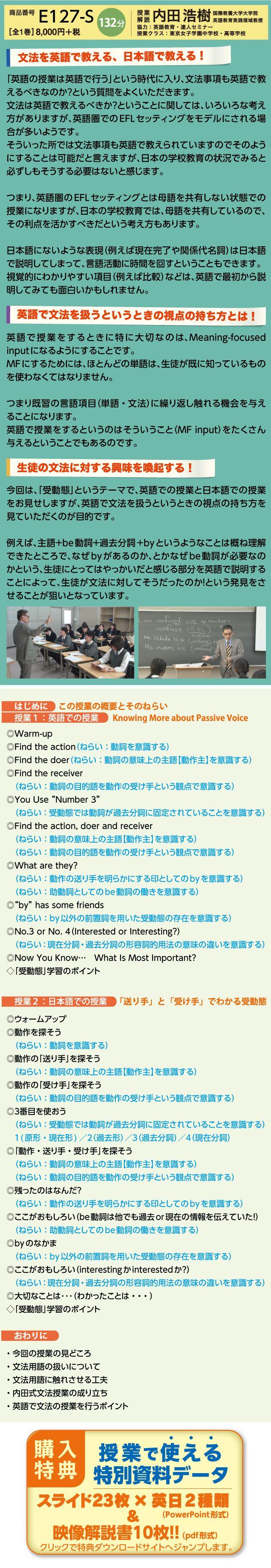 教えるのが楽しみになる文法シリーズ4 「送り手」と「受け手」でわかる受動態 内田浩樹