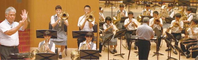 基礎合奏〜楽器を使ったソルフェージュ〜の練習風景