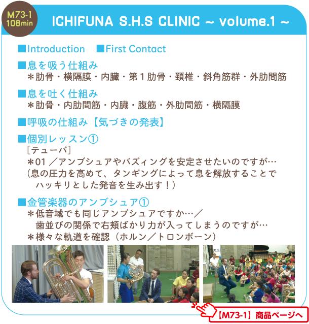 M73-1 ICHIFUNA S.H.S CLINIC vol.1