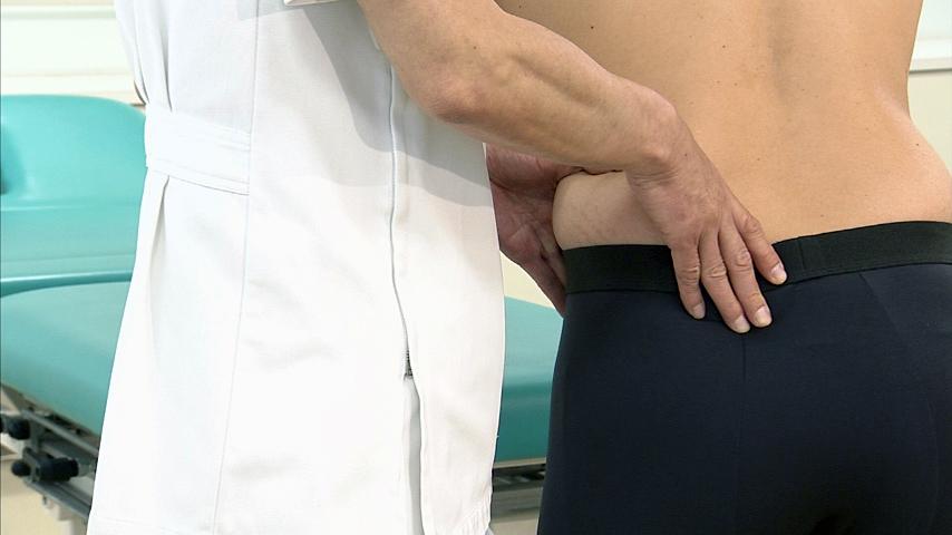 股関節の誘発・緩和テスト